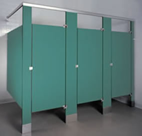 Phenolic color-thru partition