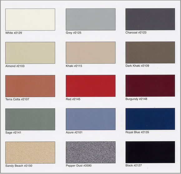 Powder Coated Partitions Color Choices