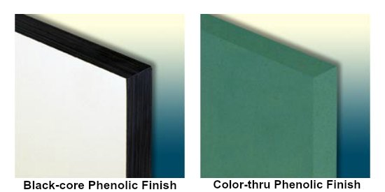 Black Core Phenolic Finishes